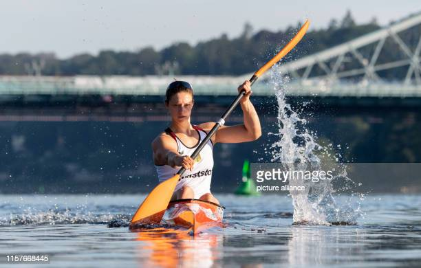 Steffi Kriegerstein Olympic silver medallist in canoeing is training for the World Championships on the Elbe The ICF Canoe Sprint World Championship...