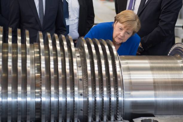 DEU: Chancellor Angela Merkel In Saxony