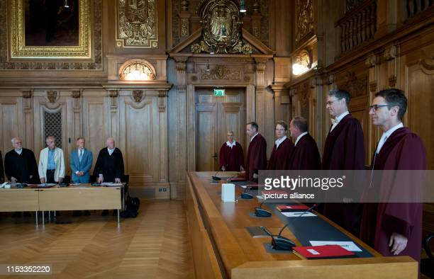 Johann Friedrich Spittler and Chrsitoph Turowski doctors from Hamburg and Berlin are before the beginning of the trial in the room of the Federal...