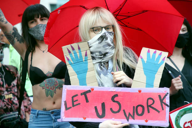 DEU: Protest Action For Opening Of Prostitution Sites