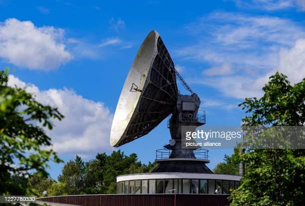 22 July 2020 Brandenburg Bad Saarow/Ot NeuGolm The 12meter parabolic antenna of the former Intersputnik satellite ground station can be seen between...