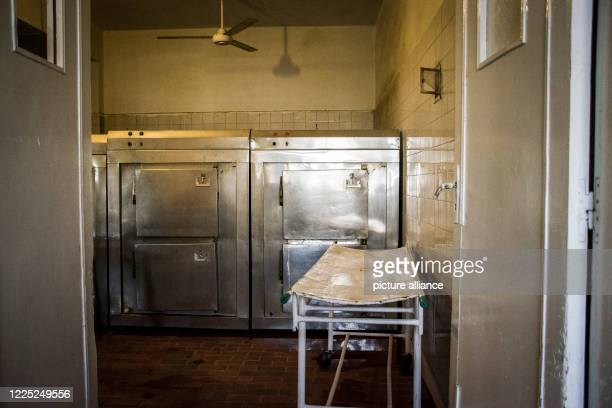 A view of the morgue of the 6th of October Central Hospital which is currently serving as an isolation hospital for Coronavirus patients Photo Menna...