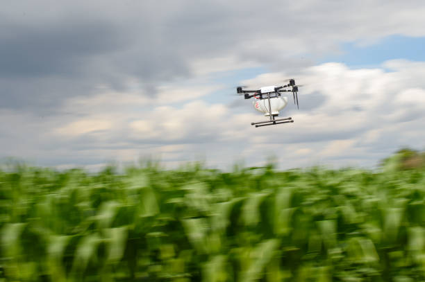 DEU: Drone Used In Biological Plant Protection