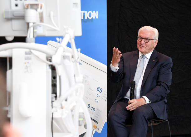 DEU: German President Steinmeier Visits Intensive Care Ventilator Producer Draeger