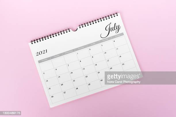 july 2021 calendar pink background - 2021 stock pictures, royalty-free photos & images