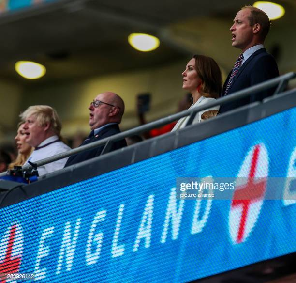 July 2021, United Kingdom, London: Football: European Championship, Italy - England, final round, final at Wembley Stadium. Boris Johnson , Prime...