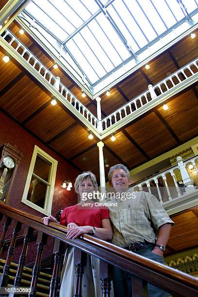 OURAY COLO July 21 2003 Mary and Dan King stand on the grand staircase of their newlyrestored Beaumont Hotel in Ouray CO Monday afternoon 7/21/03...