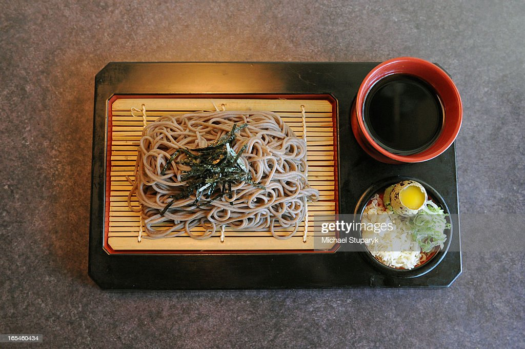 July 21, 2008 Toshi Sushi at 565 King St. W. Mintz restaurant review. plate of Soba noodles. Toronto : News Photo