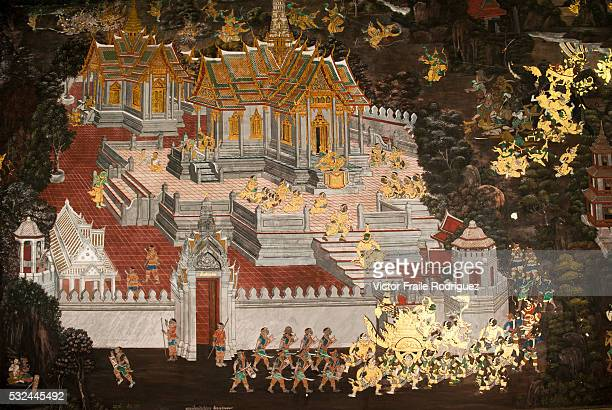Bangkok Thailand View of the Wat Phra Kaew Temple of the Emerald Buddha in Bangkok Photo by Victor Fraile Image by © Victor Fraile