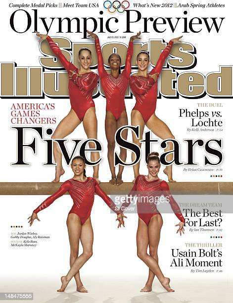 July 23 2012 Sports Illustrated via Getty Images Cover Summer Games Preview Portrait of Team USA Gabby Douglas and Jordyn Wieber during photo shoot...