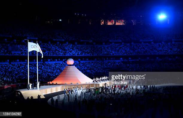 July 23, 2021: Entertainers perform during opening ceremonies at the 2020 Tokyo Olympics.
