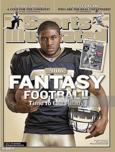 July 24 2006 Sports Illustrated Cover Football Closeup portrait of New Orleans Saints Reggie Bush San Diego CA 7/7/2006