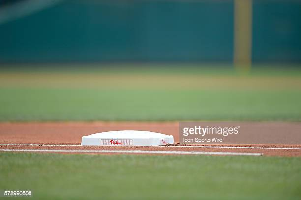 Generic view of first base during a MLB game between the San Francisco Giants and the Philadelphia Phillies at Citizens Bank Park in Philadelphia PA...