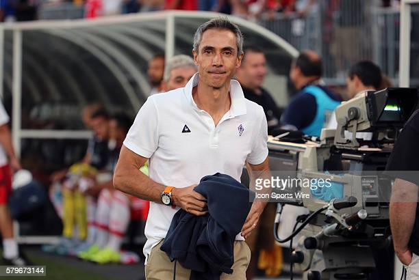 ACF Fiorentina Head Coach Paulo Sousa ACF Fiorentina defeated SL Benfica 10 in a Guiness International Champions Cup match at Rentschler Field in...