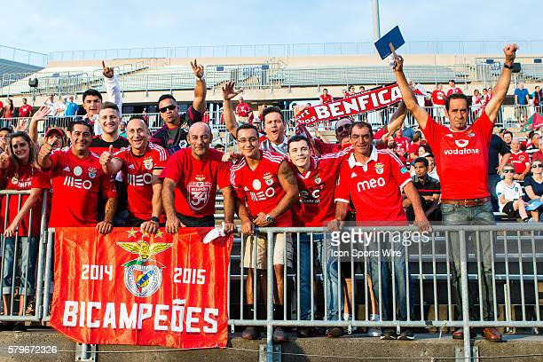 Fans get ready for the International Champions Cup featuring SL Benfica versus Fiorentina at Rentschler Field in East Hartford CT