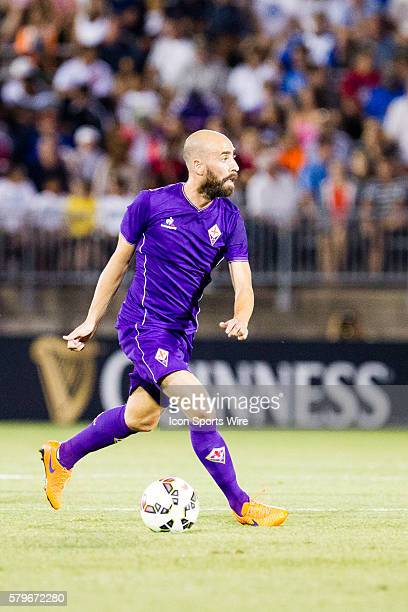 Fiorentina midfielder Borja Valero during the first half of the International Champions Cup featuring SL Benfica versus Fiorentina at Rentschler...