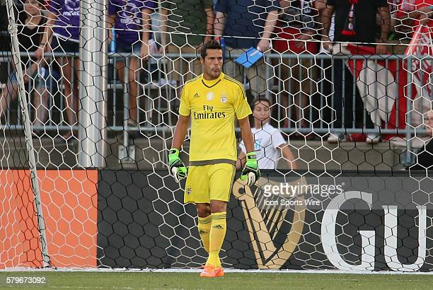 SL Benfica goalkeeper Julio Cesar ACF Fiorentina defeated SL Benfica 10 in a Guiness International Champions Cup match at Rentschler Field in East...