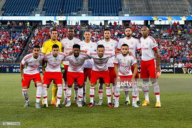 SL Benfica poses for a team photo prior to the start of the International Champions Cup featuring SL Benfica versus Fiorentina at Rentschler Field in...