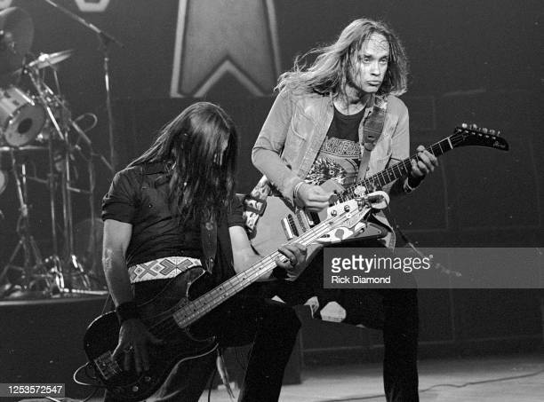 Greg T. Walker and Rickey Medlocke perform at The Fox Theater in Atlanta Georgia, July 24,1981 (Photo by Rick Diamond/Getty Images