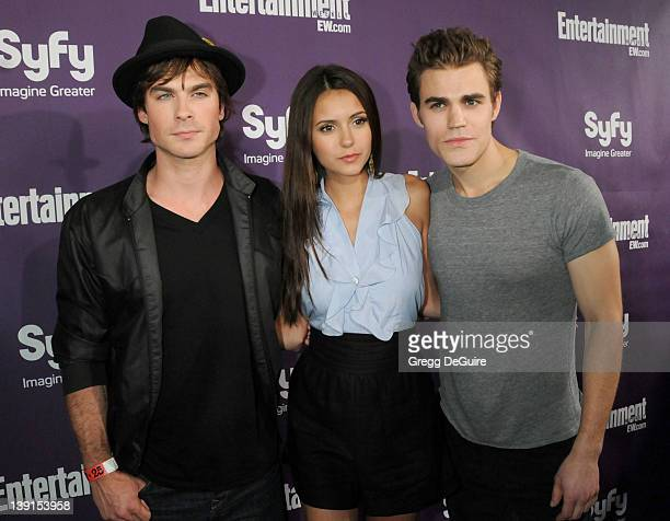 July 25 2009 San Diego Ca Ian Somerhalder Nina Dobrev and Paul Wesley Entertainment Weekly and Syfy ComicCon Party Held at the Hotel Solamar