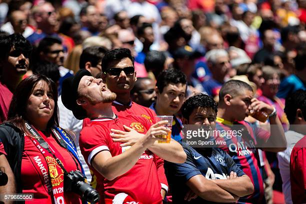 A Manchester United fan during the International Champions Cup game between Manchester United and FC Barcelona at Levi's Stadium in Santa Clara...