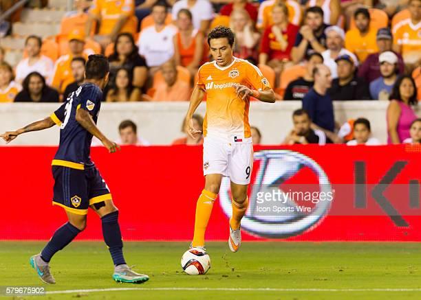Houston Dynamo forward Erick Torres during the MLS match between the LA Galaxy and Houston Dynamo at BBVA Compass Stadium in Houston TX