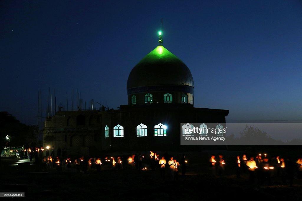 AFGHANISTAN-HERAT-BOMB ATTACK-VIGIL : News Photo