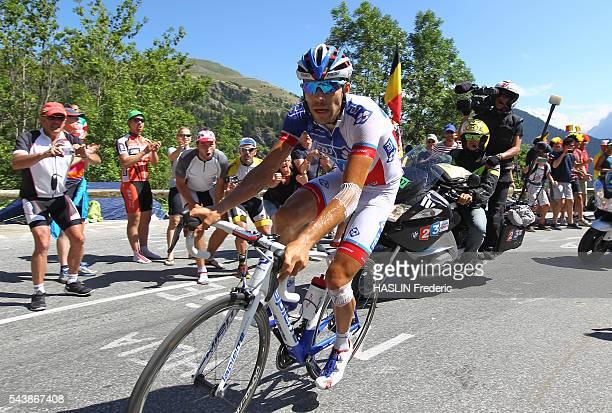 2015 july 25th Tour de France 20th stage étape Modane Alpe d'Huez Montée de l'Alpe d'Huez climb virage n°4 Thibaut Pinot Photo Fred Haslin