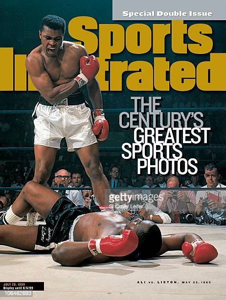 July 26 1999 Sports Illustrated via Getty Images Cover Boxing World Heavyweight Title Muhammad Ali victorious after first round knockout of Sonny...