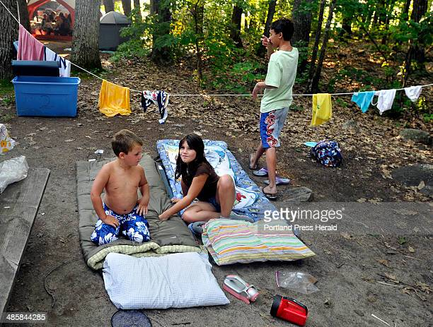 PHOTOGRAPHER July 26 2008 Grand children of Robert Low and Denise Eastman enjoyed sleeping outside under the stars at Sebago Lake Campground where...