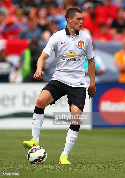 Manchester United Defender, Michael Keane during the Guinness International Champions Cup between Manchester United and AS Roma at Sports Authority...