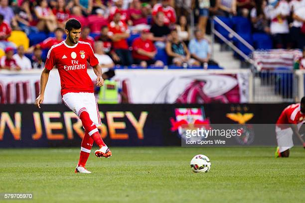 SL Benfica defender Lisandro Lpez gets warmed up for the first half of the International Champions Cup featuring the New York Red Bulls versus SL...