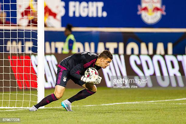 SL Benfica goalkeeper Ederson during the first half of the International Champions Cup featuring the New York Red Bulls versus SL Benfica at Red Bull...