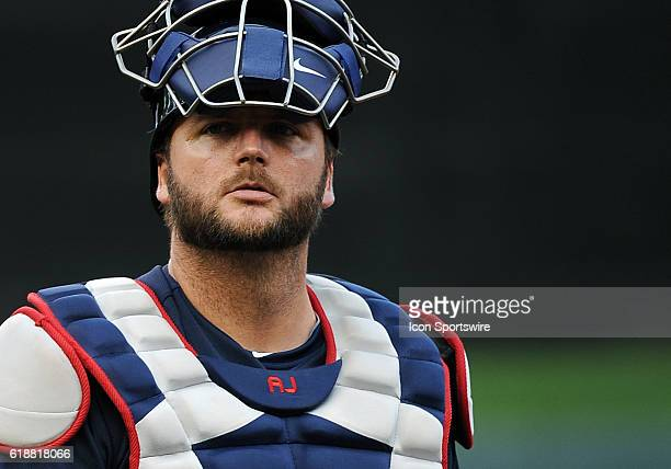 Atlanta Braves Catcher AJ Pierzynski [2014] before a MLB Interleague game between the Minnesota Twins and the Atlanta Braves at Target Field in...