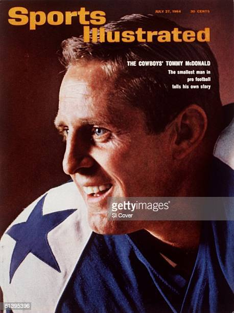 July 27 1964 Sports Illustrated Cover Football Closeup portrait of Dallas Cowboys Tommy McDonald New York NY 5/31/1964