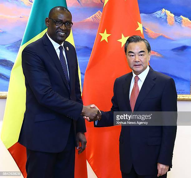 BEIJING July 28 2016 Chinese Foreign Minister Wang Yi right meets with Malian Foreign Minister Abdoulaye Diop who came to attend a SinoAfrican...