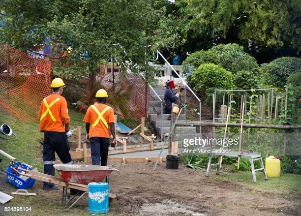 TORONTO ON TORONTO ON July 28 2017 A set of wooden stairs built by a Toronto senior for $550 to Tom Riley Park have been removed and city workers are...