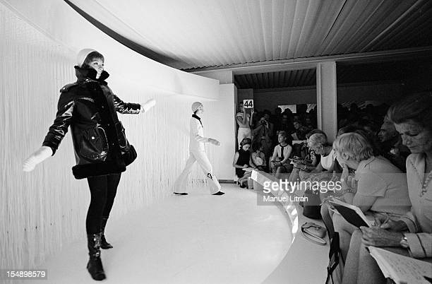 July 29 presentation of new models of the 19691970 winter collection fashion designer Andre Courreges Models to the public