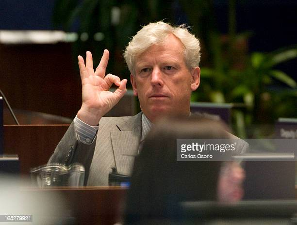 July 31, 2009 -- City Council --Torono Mayor David Miller is seen during ratification vote held at city council regarding the strike. The vote past.