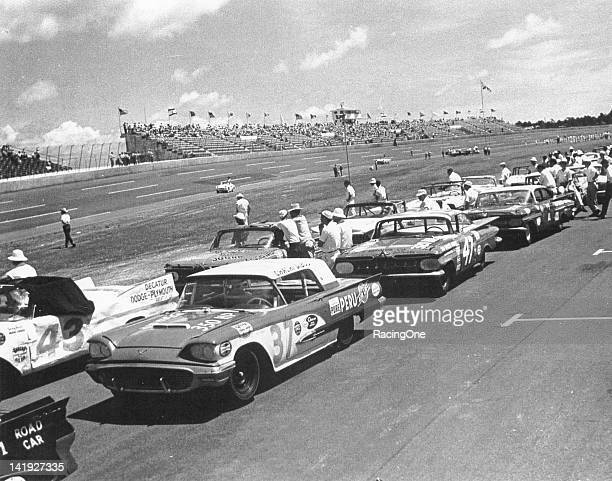 Cars get set on the starting grid for the Firecracker 250 NASCAR Cup race at Daytona International Speedway Just as the first Daytona 500 in February...