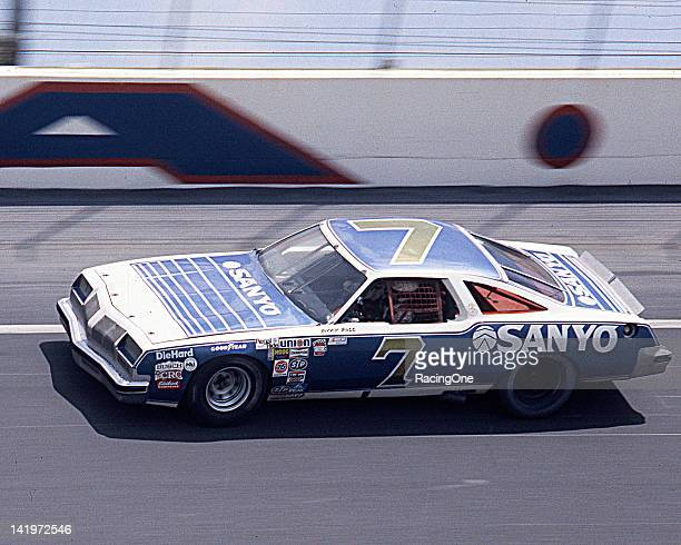 Ricky Rudd at speed on the high banks of Daytona International Speedway in the Sanyo Oldsmobile owned by Nelson Malloch Rudd would go on to finish...