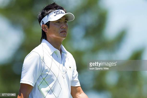 Ryuji Imada walking to the 12th Hole fairways during the final round of the AT&T National at Aronimink Golf Club in Newtown Square, Pennsylvania.