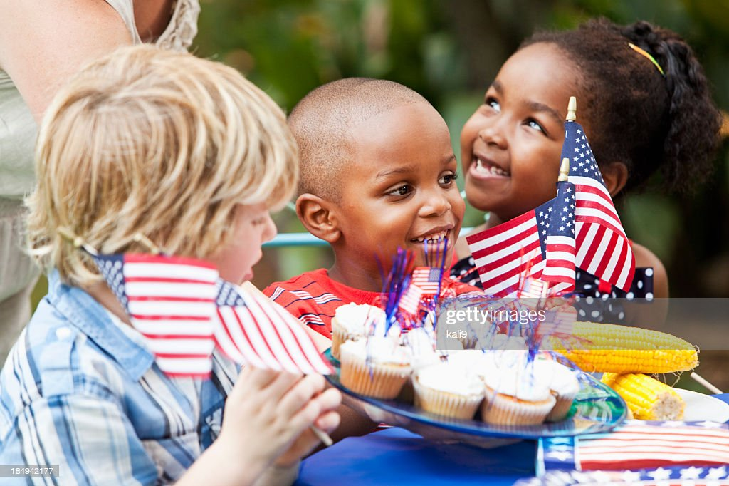 July 4th or Memorial Day picnic celebration : Stock Photo