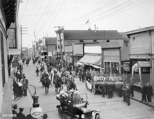 July 4th Parade Front Street Nome Alaska 1916