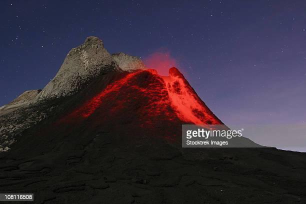 July 5, 2004 - Ol Doinyo Lengai eruption, Rift valley, Tanzania.
