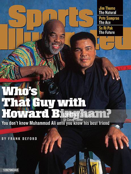 July 6 1998 Sports Illustrated via Getty Images CoverBoxing Portrait of former heavyweight Muhammad Ali with photographer and friend Howard Bingham...