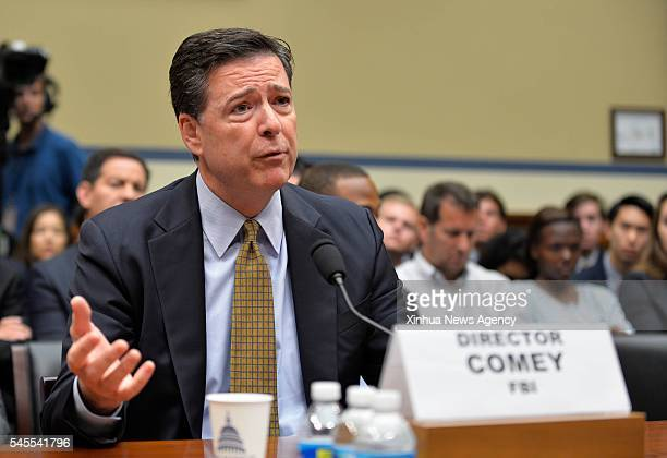 C July 7 2016 US FBI Director James Comey testifies before the House Oversight Committee over investigation into Hillary Clinton's email system on...