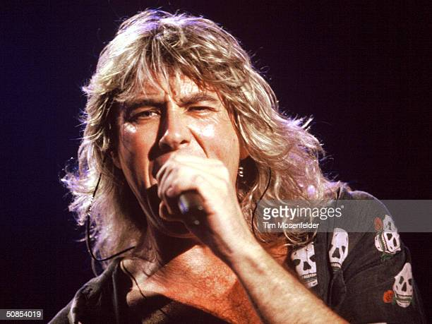 VIEW CA July 7 Joe Elliott of Def Leppard performing at Shoreline Amphitheater Event held on July 7 1993 in Mountain View California