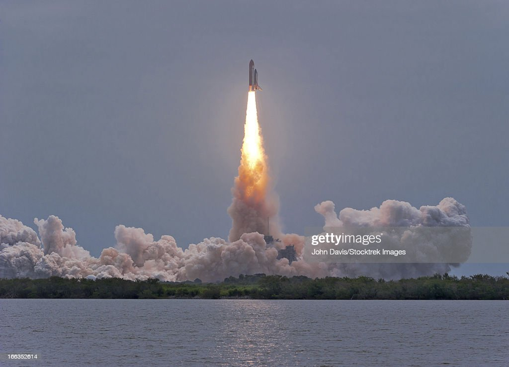 July 8, 2011 - The final launch of Space Shuttle Atlantis from Kennedy Space Center, Cape Canaveral, Florida. : Stock Photo