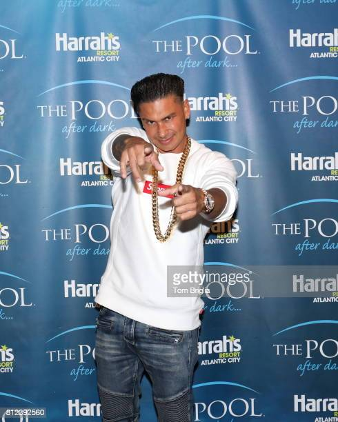 DJ Pauly D attends The Pool After Dark at Harrah's Resort on Saturday July 8 2017 in Atlantic City New Jersey